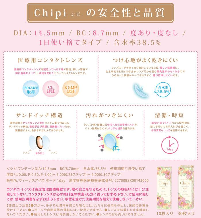 Chipi1day(シピワンデー)のこだわり
