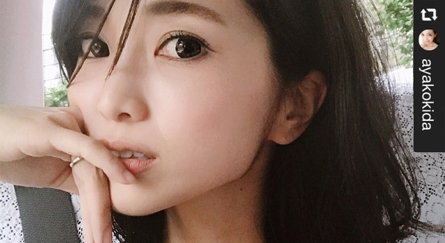 ワンデーキャラアイのカラコンレポ、モデルの喜田彩子さん