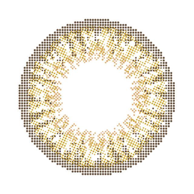 モテコン ミルクティーアッシュのレンズ画像