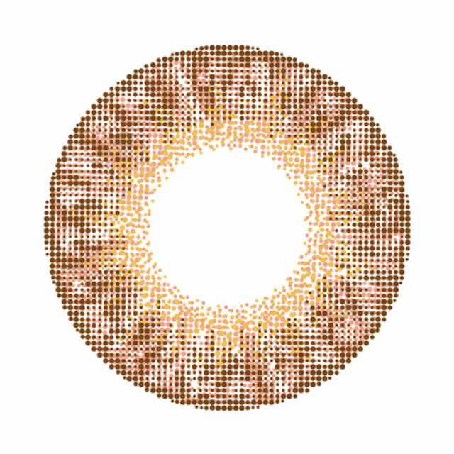 ラスターカラコンのチャームローズのレンズ画像