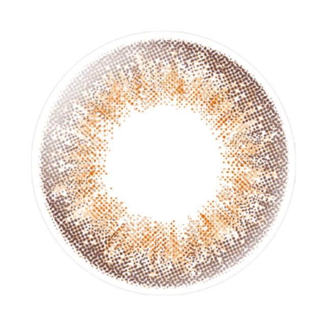 エバーカラーワンデールクアージュのフォギーショコラのレンズ画像