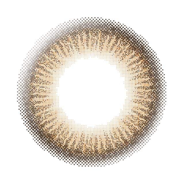 エバーカラーワンデーナチュラル(アプリコットブラウン)レンズ画像