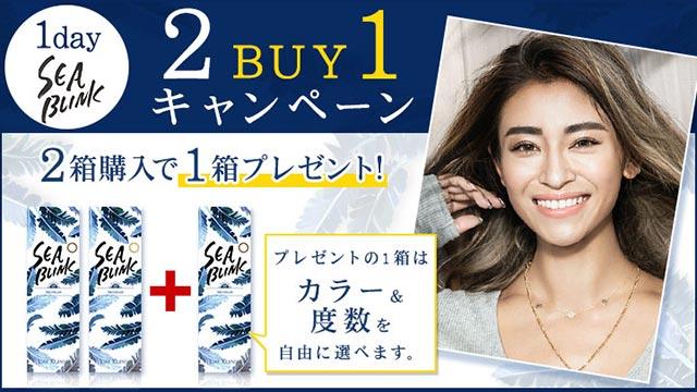 SEA BLINK 1DAY(シーブリンクワンデー) 2 buy 1 キャンペーン開催!2箱で+1箱無料でプレゼント!2019年8月31日まで