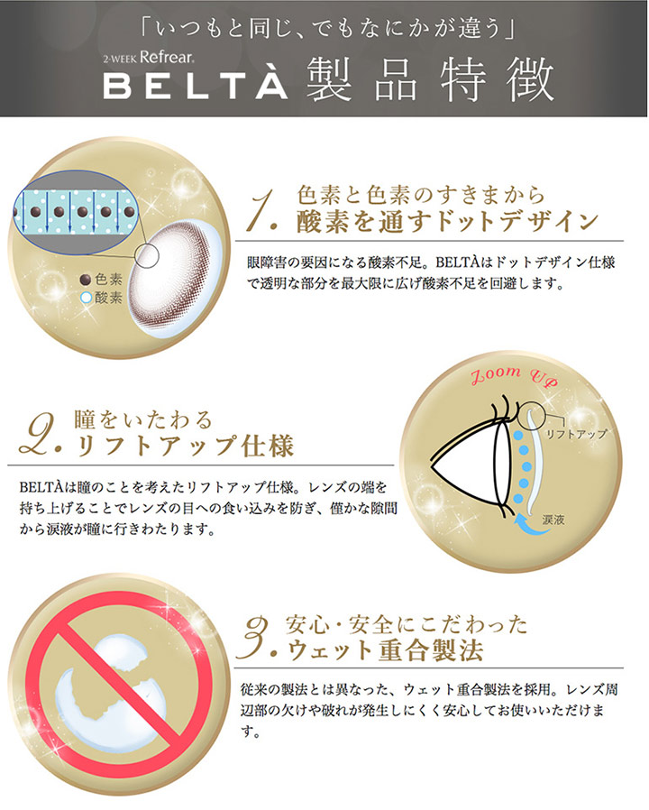 カラコン - ベルタ(BELTA) の特徴