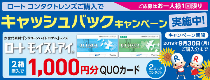 ロート1,000円分のQUOカードがもらえるプレゼントキャンペーン