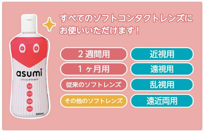 asumi(アスミ)ソフトコンタクトのケア 300mlの良い点