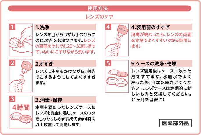 asumi(アスミ)ソフトコンタクトのケア 300mlの使用方法