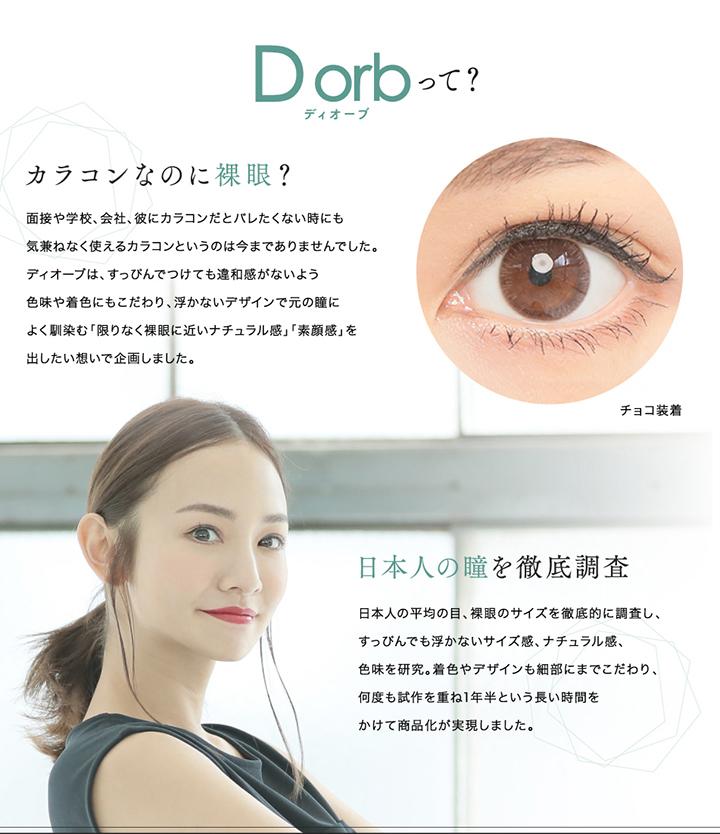 D orb 1month (ディオーブマンスリー) について