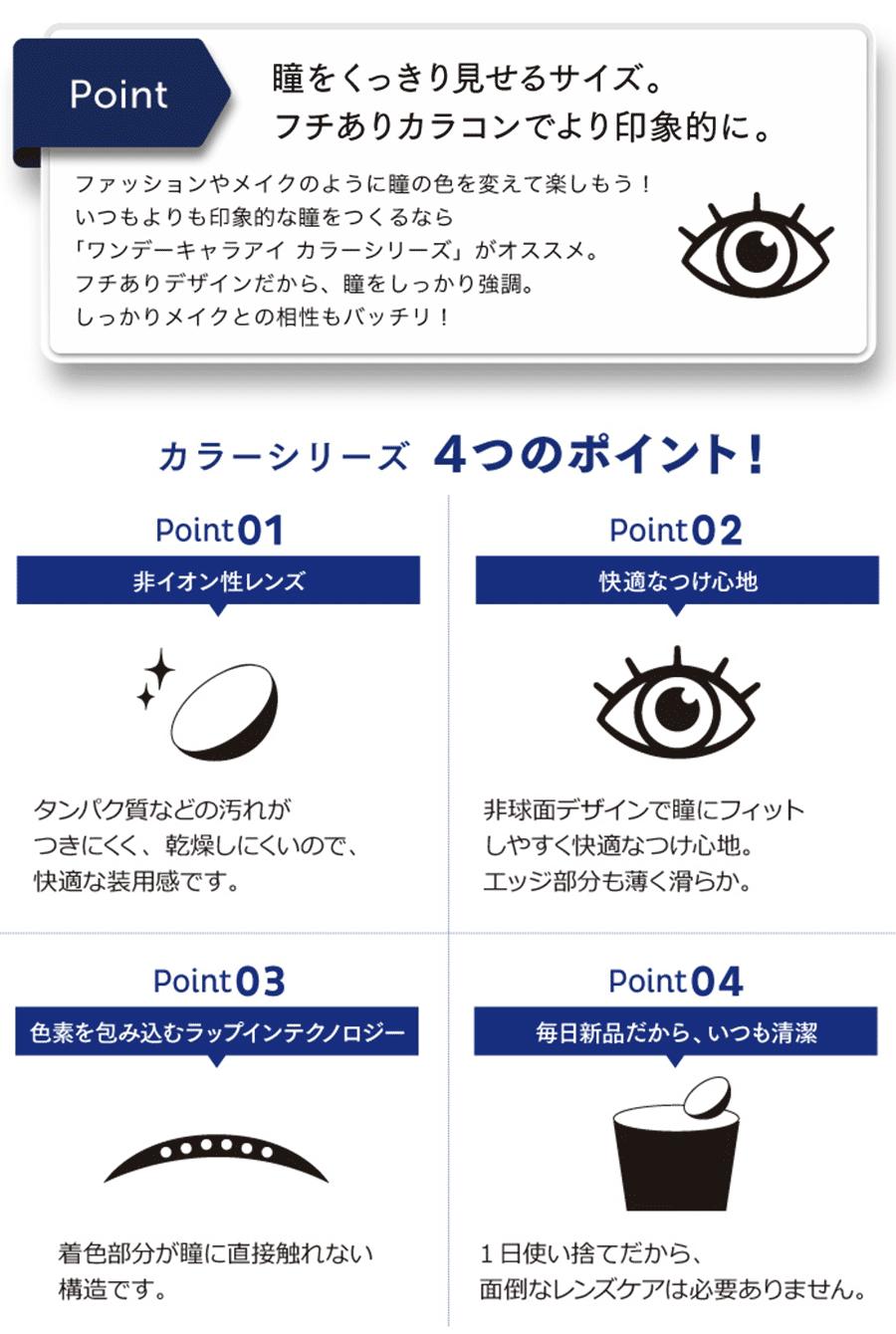 ワンデーキャラアイ(1day Cara Eyes)のポイント