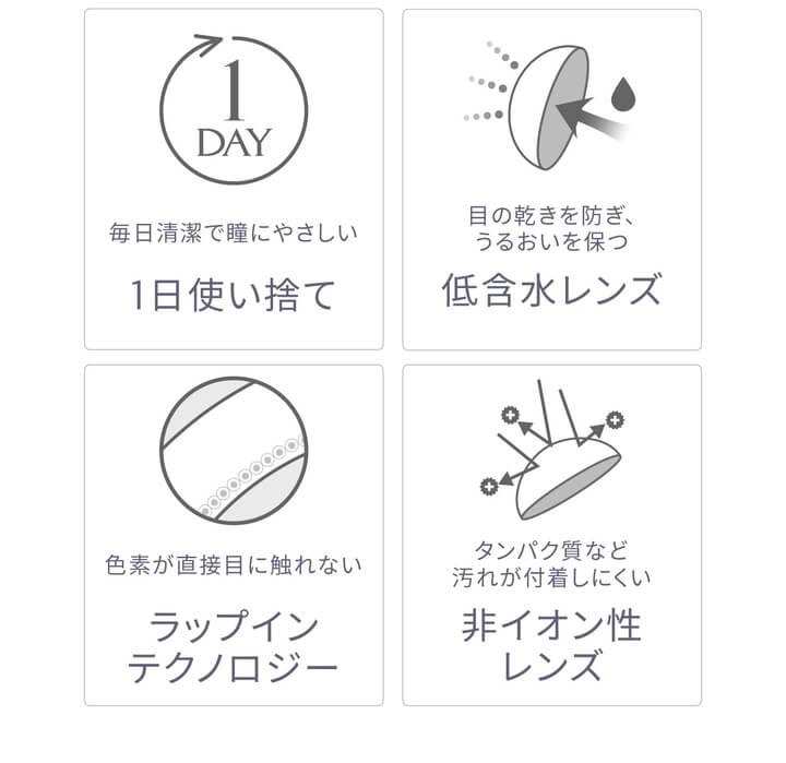 沢尻エリカカラコン - エバーカラーワンデーナチュラル モイストレーベルUV