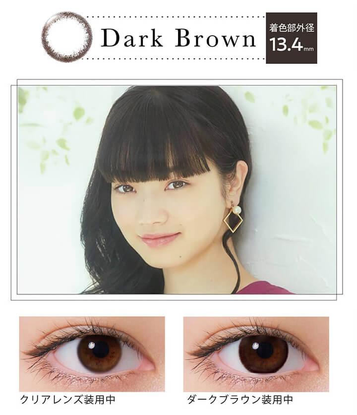 ネオサイトワンデーリングUVのダークブラウン(Dark Brown)