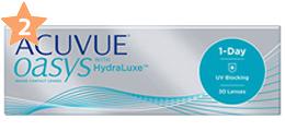 UVカット機能付きコンタクトレンズ売れ筋ランキング2位 - ワンデーアキュビュー オアシス